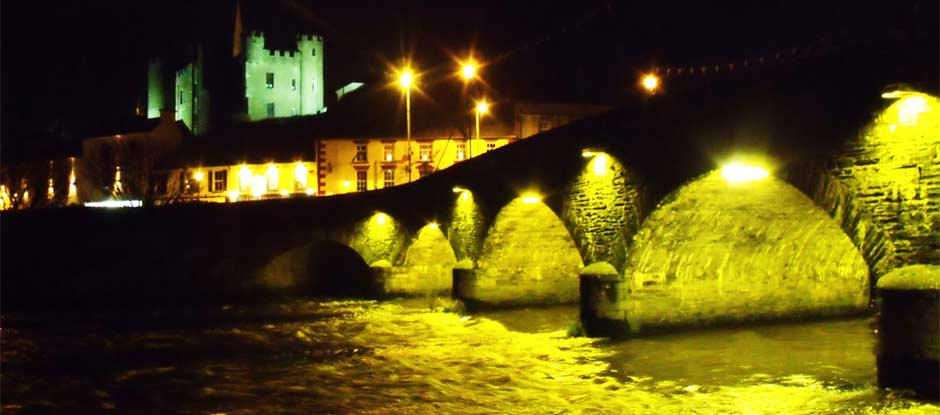 Old Bridge and Castle by Night